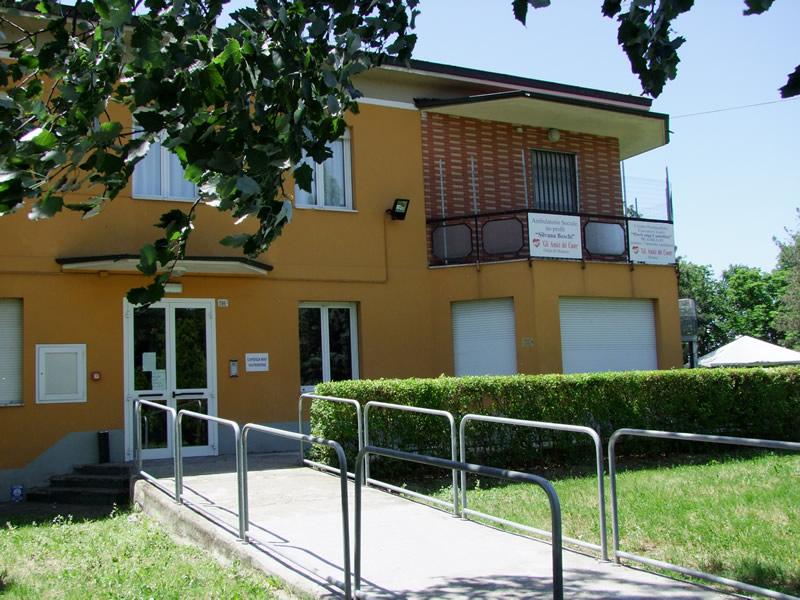 La Palazzina di Via F.lli Rosselli 396/2 che ospita il Centro di Formazione BLS-D e l'Ambulatorio Cardiologico Sociale